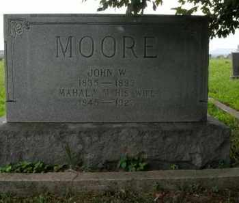 MOORE, JOHN W. - Boone County, Arkansas | JOHN W. MOORE - Arkansas Gravestone Photos