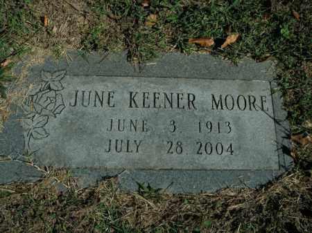 KEENER MOORE, JUNE - Boone County, Arkansas | JUNE KEENER MOORE - Arkansas Gravestone Photos