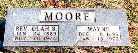 MOORE, OLAH B. (REV) - Boone County, Arkansas | OLAH B. (REV) MOORE - Arkansas Gravestone Photos