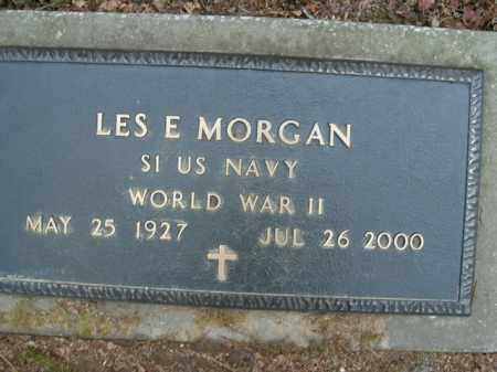 MORGAN  (VETERAN WWII), LES E - Boone County, Arkansas | LES E MORGAN  (VETERAN WWII) - Arkansas Gravestone Photos