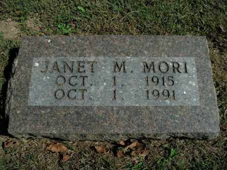 MORI, JANET M. - Boone County, Arkansas   JANET M. MORI - Arkansas Gravestone Photos