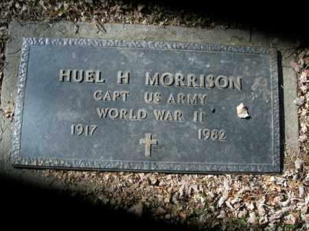 MORRISON  (VETERAN WWII), HUEL H - Boone County, Arkansas   HUEL H MORRISON  (VETERAN WWII) - Arkansas Gravestone Photos