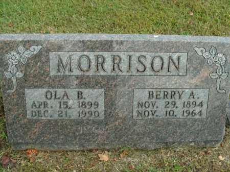 MORRISON, BERRY A. - Boone County, Arkansas   BERRY A. MORRISON - Arkansas Gravestone Photos