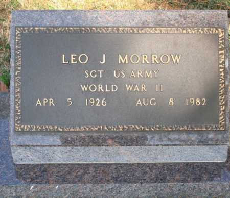MORROW  (VETERAN WWII), LEO J. - Boone County, Arkansas | LEO J. MORROW  (VETERAN WWII) - Arkansas Gravestone Photos