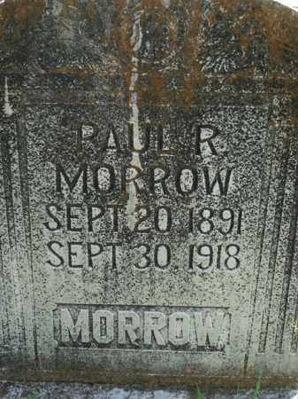 MORROW, PAUL R. - Boone County, Arkansas   PAUL R. MORROW - Arkansas Gravestone Photos