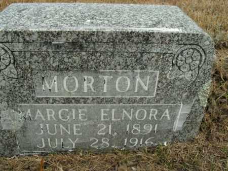 MORTON, MARGIE ELNORA - Boone County, Arkansas   MARGIE ELNORA MORTON - Arkansas Gravestone Photos