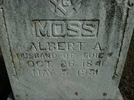 MOSS, ALBERT A. - Boone County, Arkansas | ALBERT A. MOSS - Arkansas Gravestone Photos