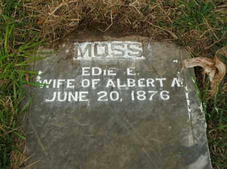 MOSS, EDIE E. - Boone County, Arkansas | EDIE E. MOSS - Arkansas Gravestone Photos