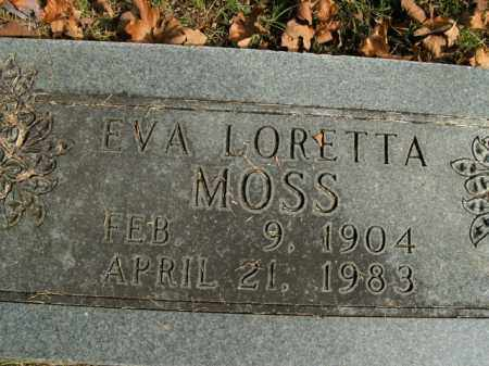 MOSS, EVA LORETTA - Boone County, Arkansas   EVA LORETTA MOSS - Arkansas Gravestone Photos