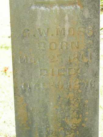 MOSS, G.W. - Boone County, Arkansas | G.W. MOSS - Arkansas Gravestone Photos