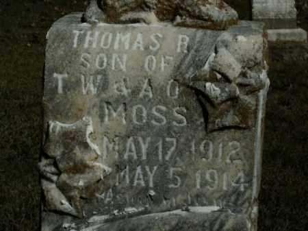 MOSS, THOMAS R. - Boone County, Arkansas | THOMAS R. MOSS - Arkansas Gravestone Photos