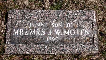 MOTEN, INFANT SON - Boone County, Arkansas | INFANT SON MOTEN - Arkansas Gravestone Photos
