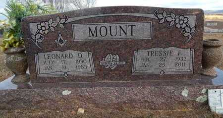 MOUNT, LEONARD D. - Boone County, Arkansas | LEONARD D. MOUNT - Arkansas Gravestone Photos