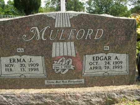 MULFORD, EDGAR A. - Boone County, Arkansas   EDGAR A. MULFORD - Arkansas Gravestone Photos