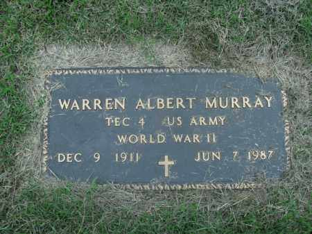 MURRAY  (VETERAN WWII), WARREN ALBERT - Boone County, Arkansas | WARREN ALBERT MURRAY  (VETERAN WWII) - Arkansas Gravestone Photos