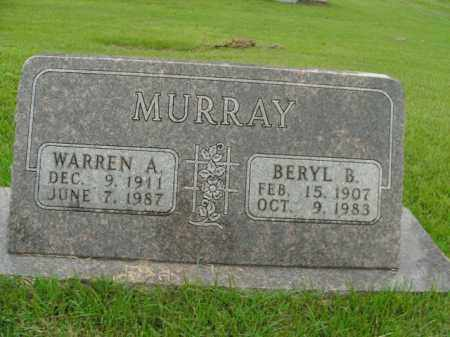 MURRAY, WARREN A. - Boone County, Arkansas | WARREN A. MURRAY - Arkansas Gravestone Photos
