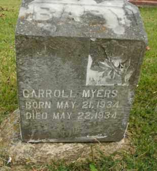 MYERS, CARROLL - Boone County, Arkansas | CARROLL MYERS - Arkansas Gravestone Photos