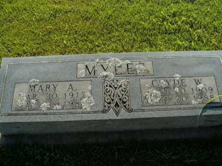 MYLES, MARY A. - Boone County, Arkansas   MARY A. MYLES - Arkansas Gravestone Photos