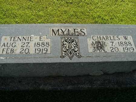 MYLES, TENNIE E. - Boone County, Arkansas | TENNIE E. MYLES - Arkansas Gravestone Photos