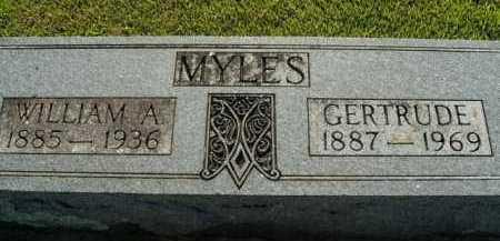 MYLES, WILLIAM A. - Boone County, Arkansas   WILLIAM A. MYLES - Arkansas Gravestone Photos