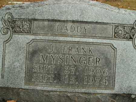 MYSINGER, J. FRANK - Boone County, Arkansas   J. FRANK MYSINGER - Arkansas Gravestone Photos