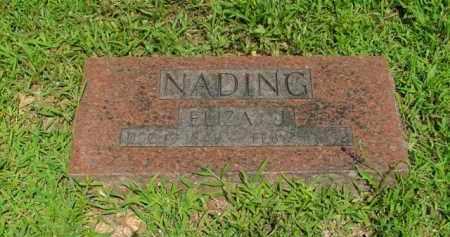 NADING, ELIZA J. - Boone County, Arkansas   ELIZA J. NADING - Arkansas Gravestone Photos