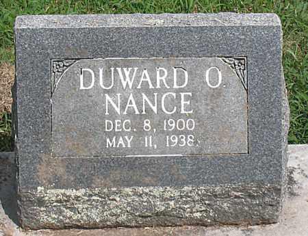 NANCE, DUWARD  OTIS - Boone County, Arkansas   DUWARD  OTIS NANCE - Arkansas Gravestone Photos