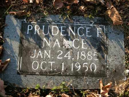 NANCE, PRUDENCE F. - Boone County, Arkansas   PRUDENCE F. NANCE - Arkansas Gravestone Photos