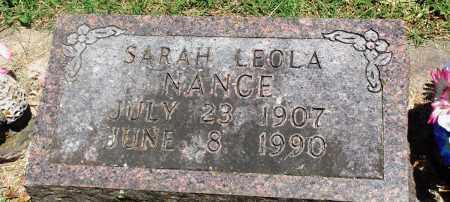 NANCE, SARAH LEOLA - Boone County, Arkansas | SARAH LEOLA NANCE - Arkansas Gravestone Photos