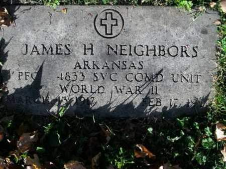 NEIGHBORS  (VETERAN WWII), JAMES H - Boone County, Arkansas | JAMES H NEIGHBORS  (VETERAN WWII) - Arkansas Gravestone Photos