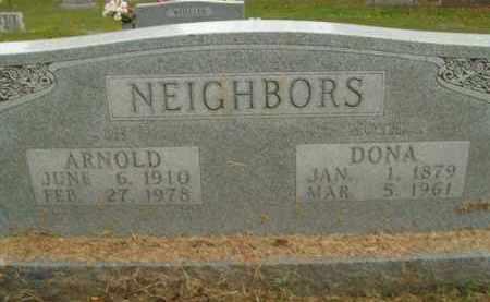 NEIGHBORS, ARNOLD - Boone County, Arkansas | ARNOLD NEIGHBORS - Arkansas Gravestone Photos