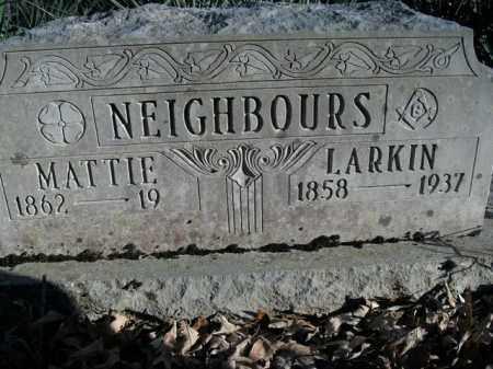 NEIGHBOURS, LARKIN A - Boone County, Arkansas | LARKIN A NEIGHBOURS - Arkansas Gravestone Photos