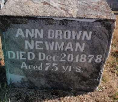 BROWN NEWMAN, ANN - Boone County, Arkansas | ANN BROWN NEWMAN - Arkansas Gravestone Photos