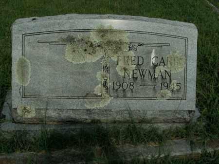 NEWMAN, FRED CARR - Boone County, Arkansas   FRED CARR NEWMAN - Arkansas Gravestone Photos