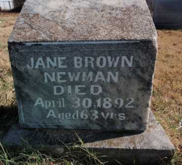 BROWN NEWMAN, JANE - Boone County, Arkansas | JANE BROWN NEWMAN - Arkansas Gravestone Photos