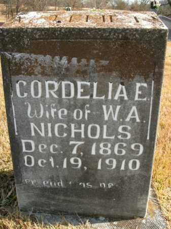 NICHOLS, CORDELIA E. - Boone County, Arkansas   CORDELIA E. NICHOLS - Arkansas Gravestone Photos