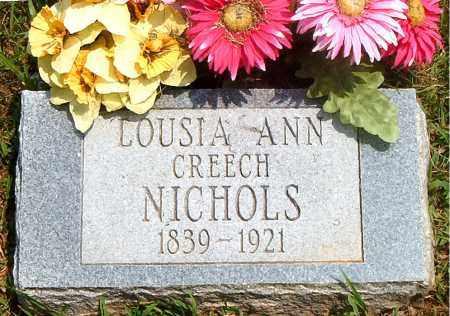 CREECH NICHOLS, LOUISA ANN - Boone County, Arkansas   LOUISA ANN CREECH NICHOLS - Arkansas Gravestone Photos
