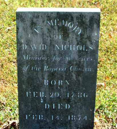 NICHOLS  (VETERAN 1812), DAVID - Boone County, Arkansas   DAVID NICHOLS  (VETERAN 1812) - Arkansas Gravestone Photos