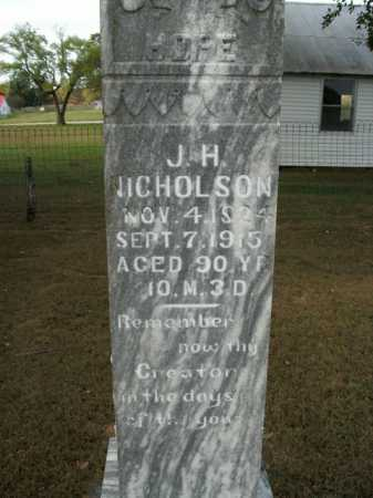 NICHOLSON, JAMES HARGROVE - Boone County, Arkansas | JAMES HARGROVE NICHOLSON - Arkansas Gravestone Photos
