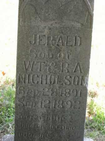 NICHOLSON, JERALD - Boone County, Arkansas | JERALD NICHOLSON - Arkansas Gravestone Photos