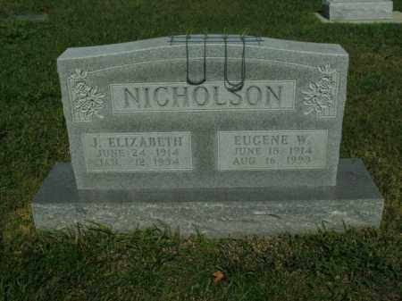 NICHOLSON, J. ELIZABETH - Boone County, Arkansas | J. ELIZABETH NICHOLSON - Arkansas Gravestone Photos
