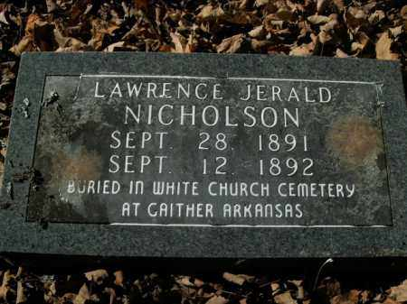 NICHOLSON, LAWRENCE JERALD - Boone County, Arkansas | LAWRENCE JERALD NICHOLSON - Arkansas Gravestone Photos