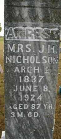 NICHOLSON, MARY - Boone County, Arkansas   MARY NICHOLSON - Arkansas Gravestone Photos
