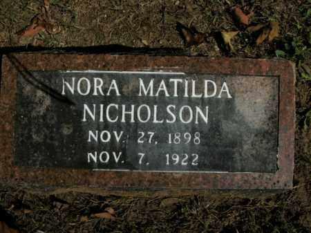 NICHOLSON, NORA MATILDA - Boone County, Arkansas | NORA MATILDA NICHOLSON - Arkansas Gravestone Photos