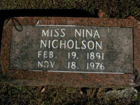 NICHOLSON, NINA - Boone County, Arkansas   NINA NICHOLSON - Arkansas Gravestone Photos