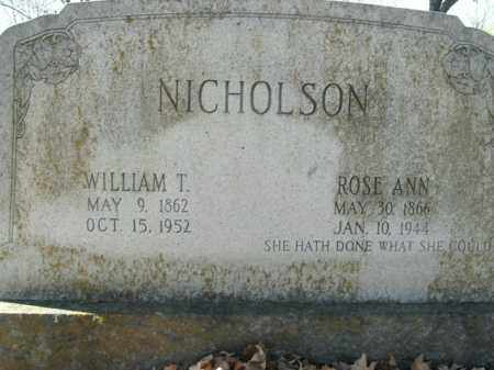 NICHOLSON, WILLIAM THOMAS - Boone County, Arkansas | WILLIAM THOMAS NICHOLSON - Arkansas Gravestone Photos