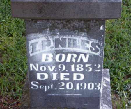 NILES, I.  P. - Boone County, Arkansas | I.  P. NILES - Arkansas Gravestone Photos