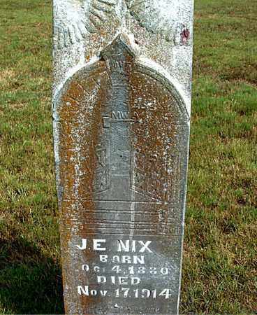 NIX, J.  E. - Boone County, Arkansas | J.  E. NIX - Arkansas Gravestone Photos