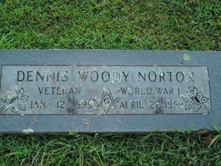 NORTON  (VETERAN WWI), DENNIS WOODY - Boone County, Arkansas | DENNIS WOODY NORTON  (VETERAN WWI) - Arkansas Gravestone Photos