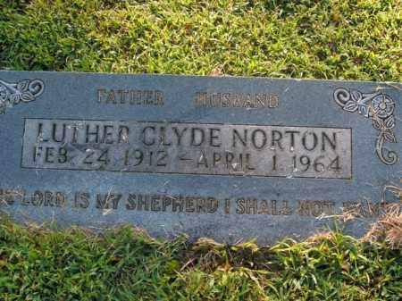 NORTON, LUTHER CLYDE - Boone County, Arkansas   LUTHER CLYDE NORTON - Arkansas Gravestone Photos